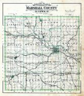 County Outline Map, Marshall County 1885